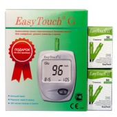 Tест-полоски  EasyTouch глюкоза N50X2 + Глюкометр EasyTouch G в подарок